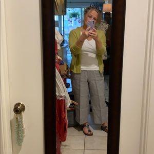 Pants - J Jill Linen Crop Pants-Large Petite